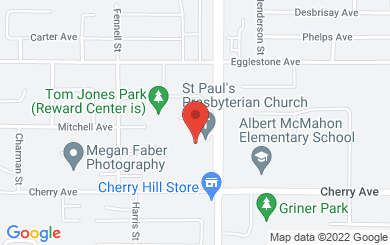 Map to St. Paul's Presbyterian Church in Mission, BC